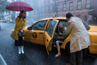 Rebecca Hall, Elle Fanning en Jude Law in A Rainy Day in New York