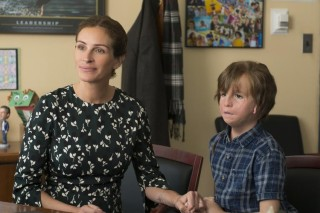 Julia Roberts en Jacob Tremblay in Wonder
