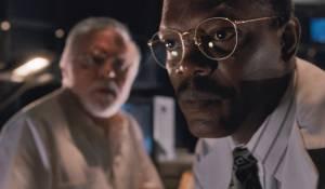 Jurassic Park 3D: Richard Attenborough (John Hammond) en Samuel L. Jackson (Ray Arnold)