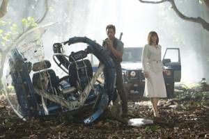 Jurassic World: Chris Pratt (Owen) en Bryce Dallas Howard (Beth)