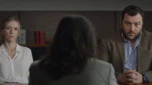 Jusqu'à la garde: Léa Drucker (Miriam Besson) en Denis Menochet (Antoine Besson)