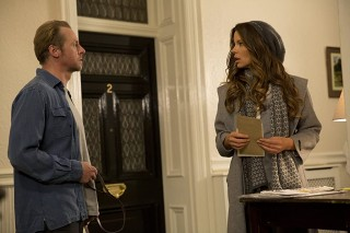 Simon Pegg en Kate Beckinsale in Absolutely Anything