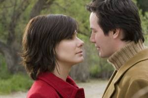 Sandra Bullock en Keanu Reeves in The Lake House