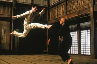 Keanu Reeves en Laurence Fishburne in The Matrix