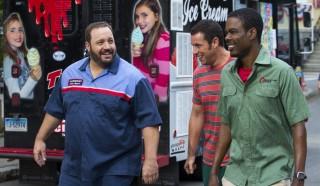 Kevin James, Chris Rock en Adam Sandler in Grown Ups 2