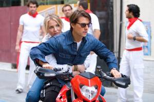 Knight and Day: Tom Cruise (Roy Miller) en Cameron Diaz (June Havens)