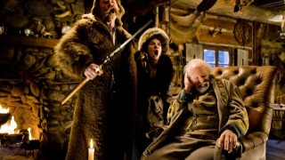 Kurt Russell, Jennifer Jason Leigh en Bruce Dern in The Hateful Eight