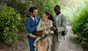 L'écume des jours: Romain Duris (Colin), Audrey Tautou (Chloe) en Omar Sy (Nicolas)