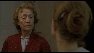 La Pianiste: Annie Girardot (The Mother) en Isabelle Huppert (Erika Kohut)