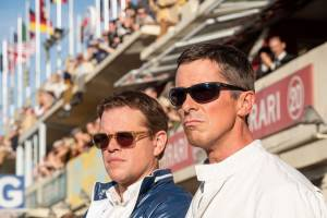 Matt Damon (Carroll Shelby) en Christian Bale (Ken Miles)