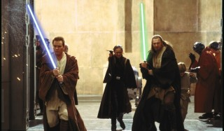 Ewan McGregor en Liam Neeson in Star Wars: Episode I - The Phantom Menace
