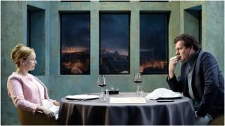 Lies Visschedijk en Mark Rietman in Brasserie Valentijn