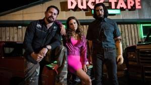 Logan Lucky: Channing Tatum (Jimmy Logan), Riley Keough (Mellie Logan) en Adam Driver (Clyde Logan)