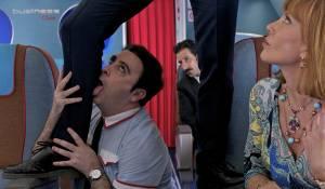 Los Amantes Pasajeros: Carlos Areces (Fajas) en Cecilia Roth (Norma Boss)