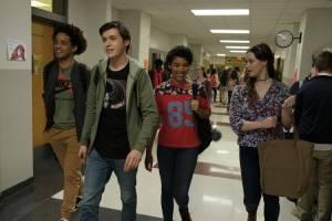 Love, Simon: Jorge Lendeborg Jr. (Nick Eisner), Nick Robinson (Simon Spier) en Alexandra Shipp (Abby Suso)