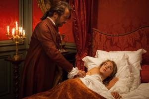 Mademoiselle de Joncquières: Edouard Baer (Le marquis des Arcis) en Alice Isaaz (Mademoiselle de Joncquières)