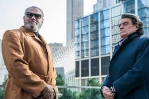Laurence Fishburne (Bowery King) en Ian McShane (Winston)