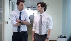 Margin Call: Zachary Quinto (Peter Sullivan) en Penn Badgley (Seth Bregman)