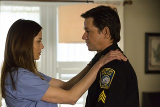 Michelle Monaghan en Mark Wahlberg in Patriots Day