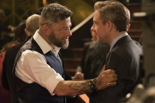 Andy Serkis en Martin Freeman in Black Panther