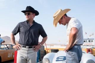 Matt Damon en Christian Bale in Le Mans '66
