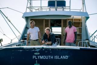 Matthew McConaughey, Jason Clarke en Djimon Hounsou in Serenity