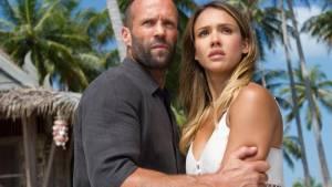 Mechanic: Resurrection: Jason Statham (Arthur Bishop) en Jessica Alba (Gina)