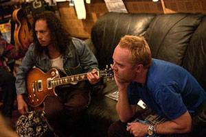 Kirk Hammett en Lars Ulrich in IFC Films' Metallica: Some Kind of Monster