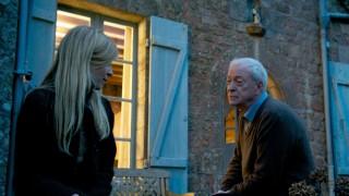 Clémence Poésy en Michael Caine in Mr. Morgan's Last Love