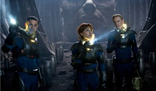 Logan Marshall-Green, Noomi Rapace en Michael Fassbender in Prometheus
