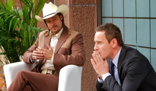 Brad Pitt en Michael Fassbender in The Counselor