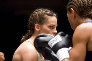 Hilary Swank als rijzende bokster