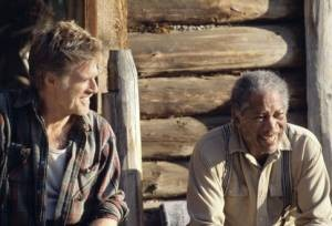 Morgan Freeman en Robert Redford in An Unfinished Life