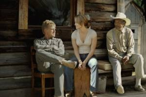 Morgan Freeman, Jennifer Lopez en Robert Redford in An Unfinished Life