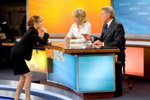 Morning Glory: Harrison Ford (Mike Pomeroy), Diane Keaton (Colleen Peck) en Rachel McAdams (Becky Fuller)