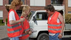 Huub Smit (Richard Batsbak), Flip Van der Kuil (Barrie Butsers) en Wesley van Gaalen (Rikkert Biemans)
