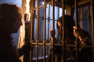 Nicolas Cage en Claire Foy in Season of the Witch