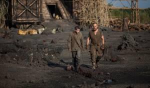 Russell Crowe (Noah) en Logan Lerman (Ham)