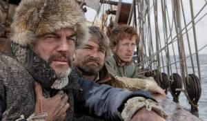 Nova zembla: Derek de Lint (Willem Barentsz), Victor Reinier (Jacob van Heemskerck) en Robert de Hoog (Gerrit de Veer)