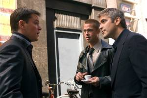 Matt Damon, Brad Pitt & George Clooney in Ocean's Twelve