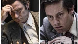 Pawn Sacrifice: Liev Schreiber (Boris Spassky) en Tobey Maguire (Bobby Fischer)