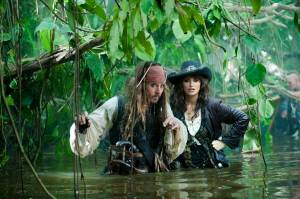 Pirates of the Caribbean: On Stranger Tides: Johnny Depp (Jack Sparrow) en Penélope Cruz (Angelica)