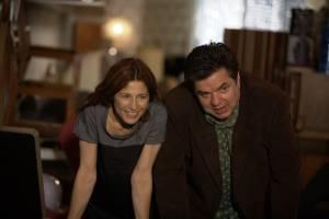 Please Give: Catherine Keener (Kate) en Oliver Platt (Alex)