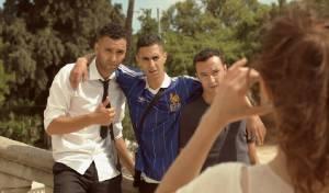 Rabat: Marwan Kenzari (Zakaria (as Marwan Kenzari)), Achmed Akkabi (Abdel) en Nasrdin Dchar (Nadir)
