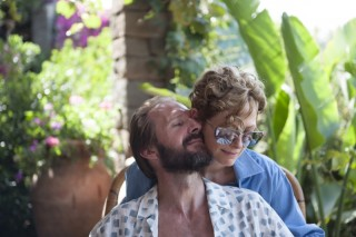 Ralph Fiennes en Tilda Swinton in A Bigger Splash