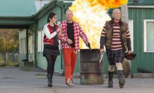 Red 2: Mary-Louise Parker (Sarah), Bruce Willis (Frank) en John Malkovich (Marvin)