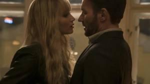 Red Sparrow: Jennifer Lawrence (Dominika Egorova) en Joel Edgerton (Nathaniel Nash)