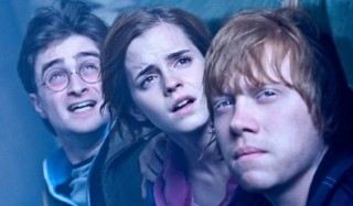 Daniel Radcliffe, Emma Watson en Rupert Grint in Harry Potter and the Deathly Hallows: Part 2