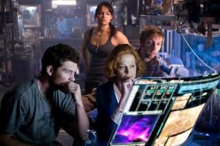 Michelle Rodriguez, Sigourney Weaver en Sam Worthington in Avatar