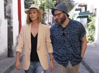 Charlize Theron en Seth Rogen in Long Shot